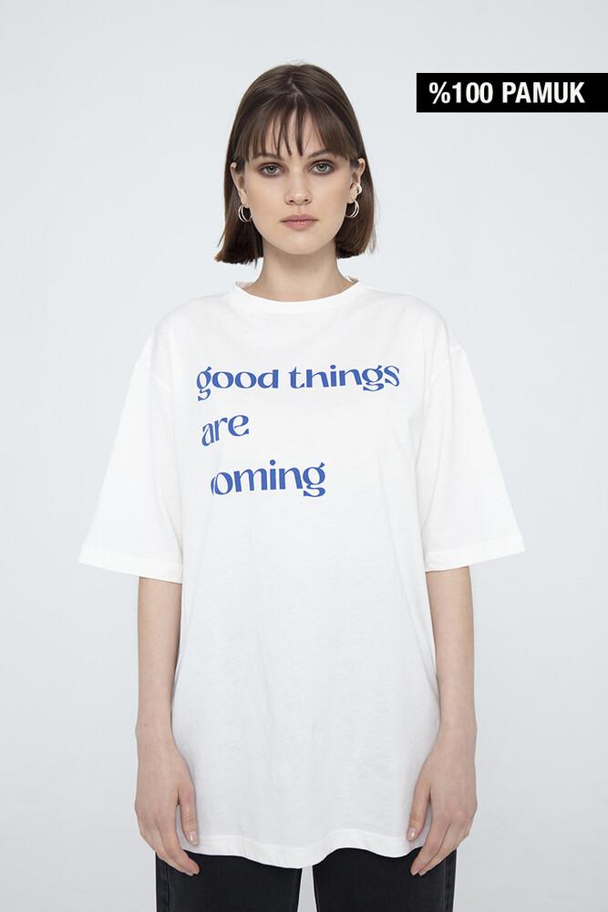 - GOOD THINGS PAMUKLU T-SHIRT
